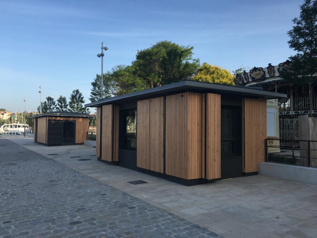 Bardage bâtiment public bois