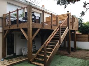 Terrasse sur 2 niveaux balcon